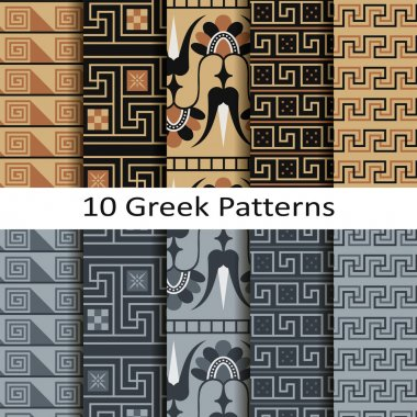 Set of ten greek patterns