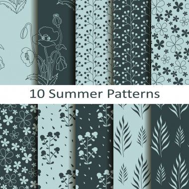Set of ten summer patterns