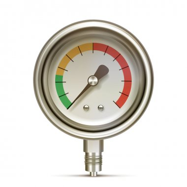 Manometer photorealistic vector