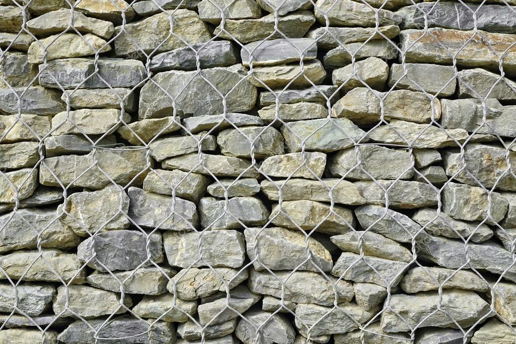 Fondo de muro de contenci n de gavi n o textura fotos de - Muros de gavion ...