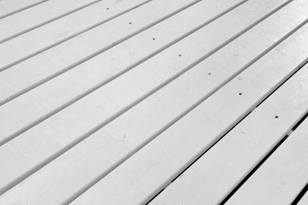 Weisse Holz Terrasse Boden Grobe Holz Weiss Glatt Zuruck Stockfoto