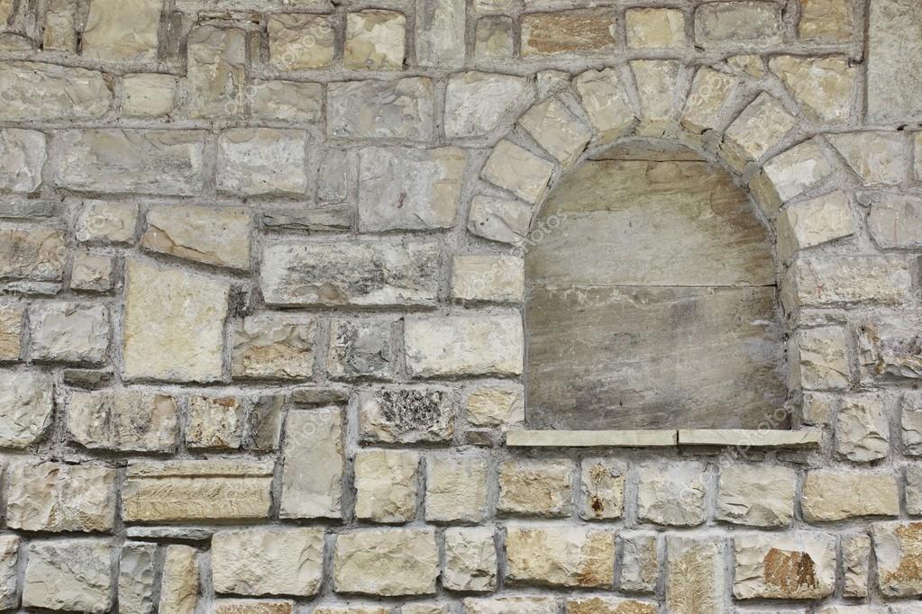 vieux mur de pierre avec niche photographie aruba2000 56826485. Black Bedroom Furniture Sets. Home Design Ideas