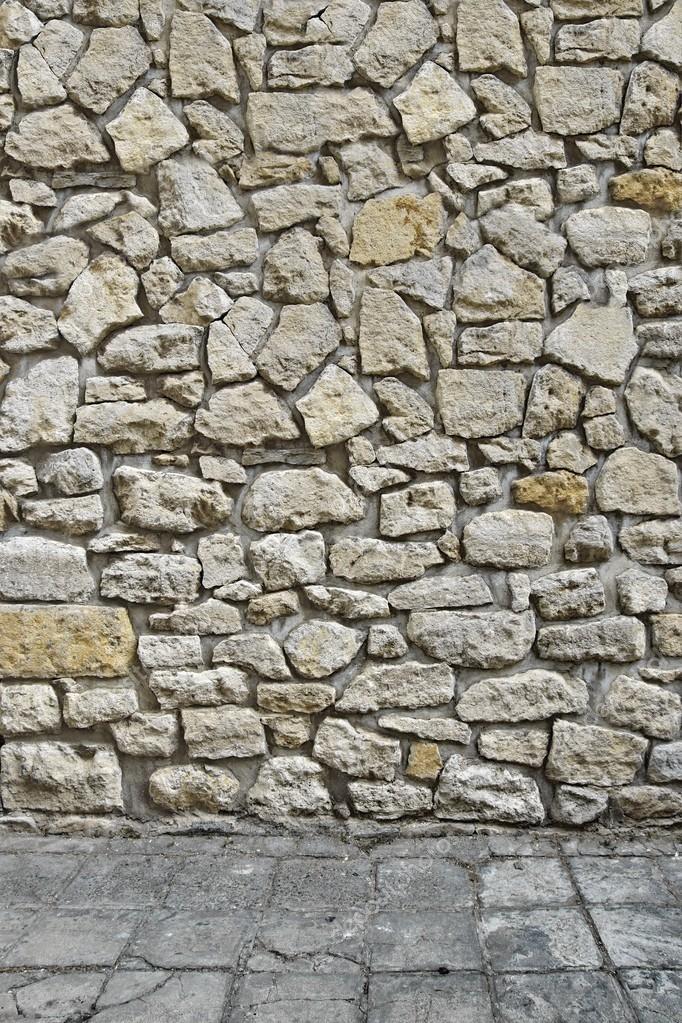 Esterno Della Casa 3d Con Muro In Pietra E Pavimento