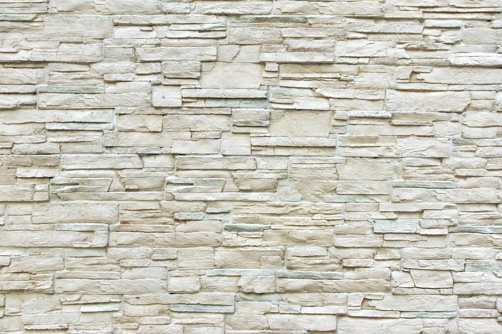 Pared de piedra artificial blanca foto de stock - Paredes de piedra artificial ...