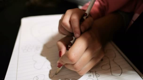 Child girl daughter drawing with her mom help,home schooling,family education