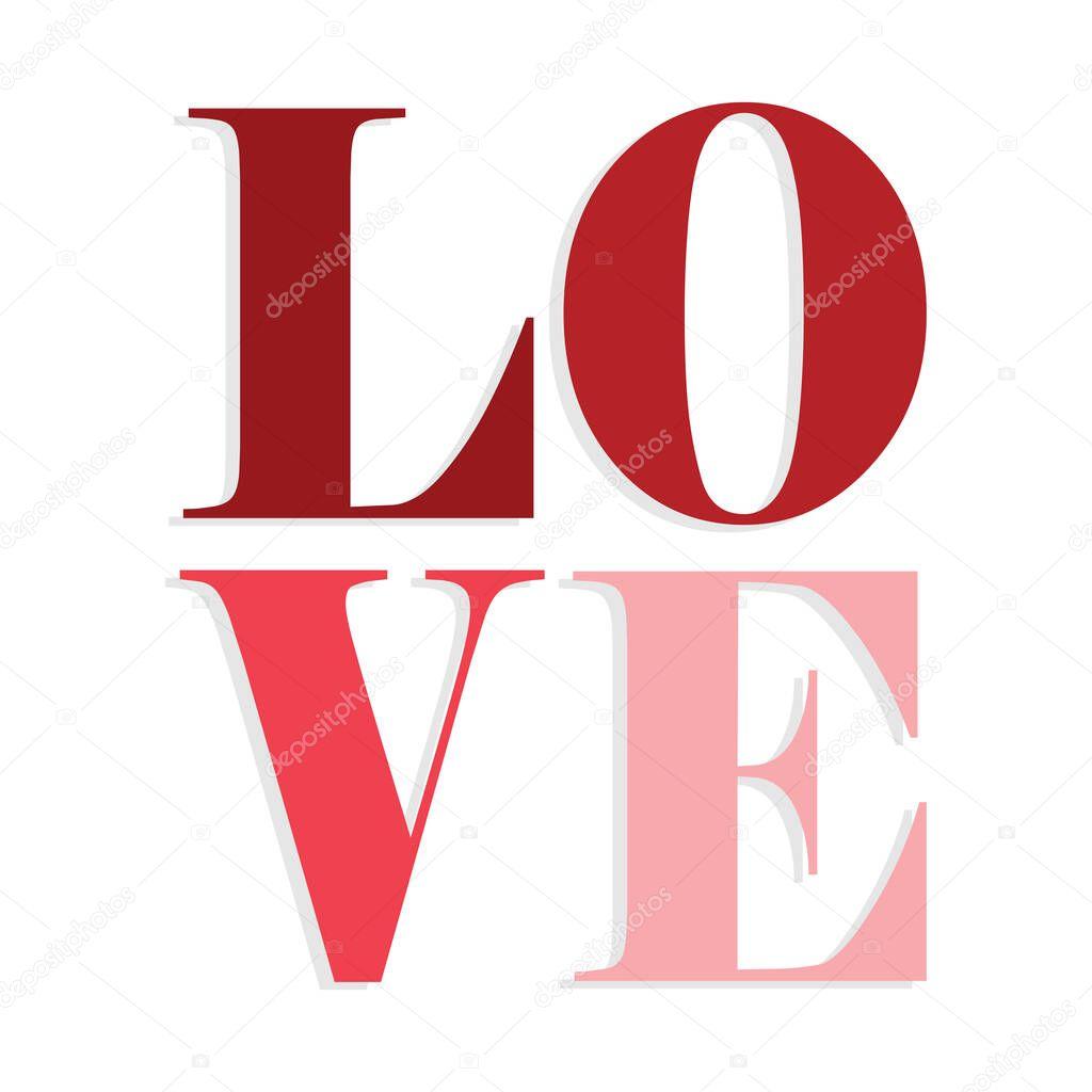 Isolated romantic love lyrics red love icon- Vector icon
