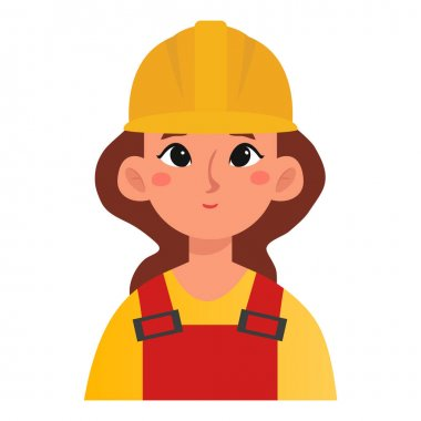 Isolated engineer woman labour day icon- Vector icon