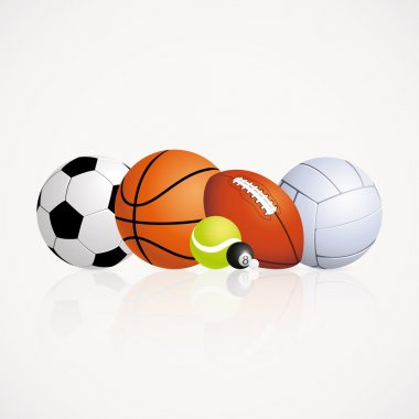 Abstract sports balls on a white background stock vector