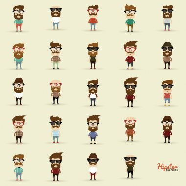 Set of Hipsters