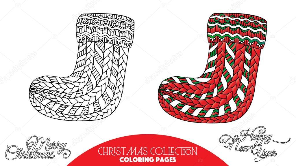 Calcetines decorativos de Navidad — Archivo Imágenes Vectoriales ...