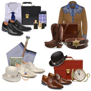 Vector Male Fashion Accessories Set 2