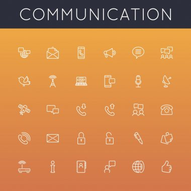 Vector Communication Line Icons