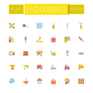 Vector Flat Housing Icons