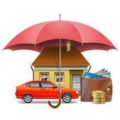 Fotografie Vector Insurance Concept