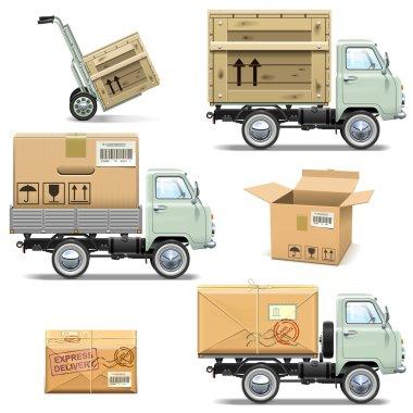 Vector Delivery Retro Light Truck
