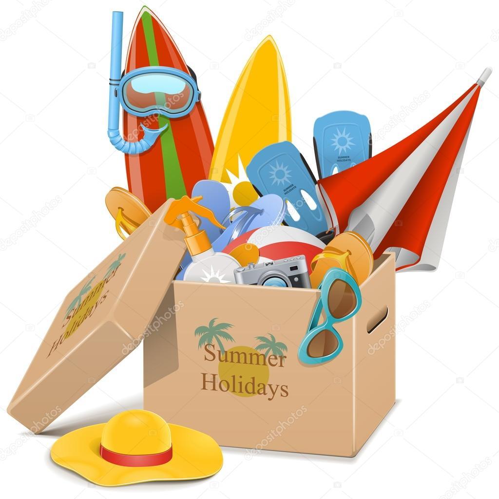Vector Summer Holidays Concept