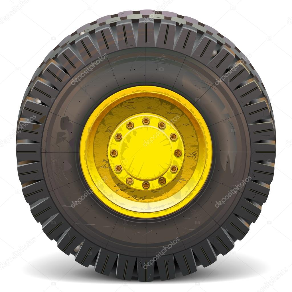 Vector Old Wheel