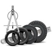 Fotografie Vektor-Tire-Skala