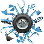 Vektorové Multi traktoru kolo