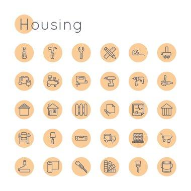 Vector Round Housing Icons
