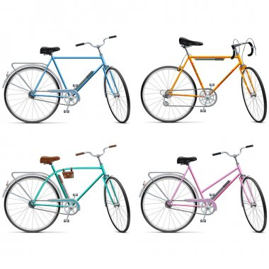 Vector Bicycle Set