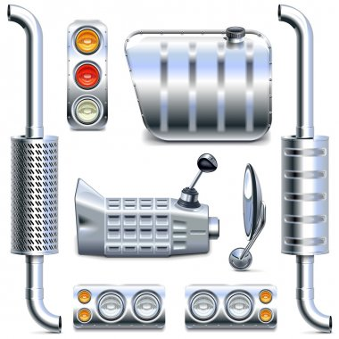 Vector Chromed Truck Parts Set 2