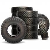 Vektor alten LKW-Reifen-Set 2