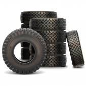 Vektor alten LKW-Reifen-Satz