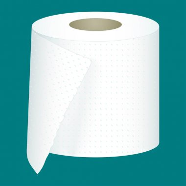 Roll tissue toilet paper isolated on white background. Vector. icon