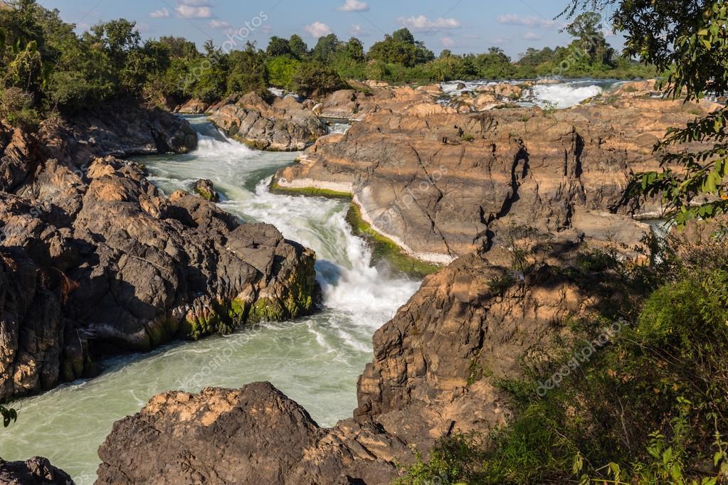 turbulent river water
