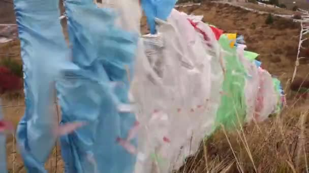 Developing the wind Buddhist flags