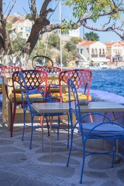Rest corner at Simy island, Greece
