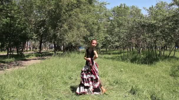 mladá dívka taneční Španělský tanec