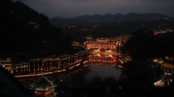 Kína Fenghuang Night Panorama