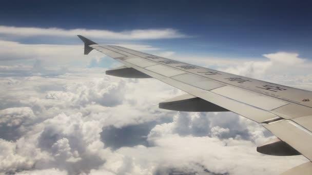 Letadla okno mraky
