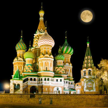 St. Basil Cathedral on Red Square in Moscow, Russia.