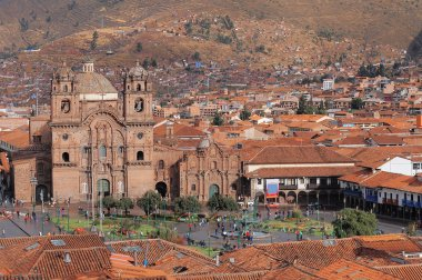 Central square In Cuzco, Plaza de Armas.