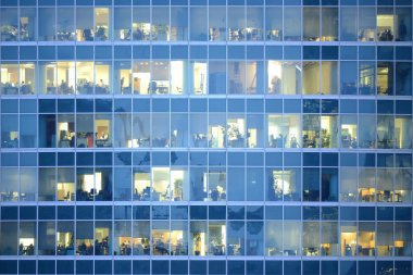 People work in an offices buildings.