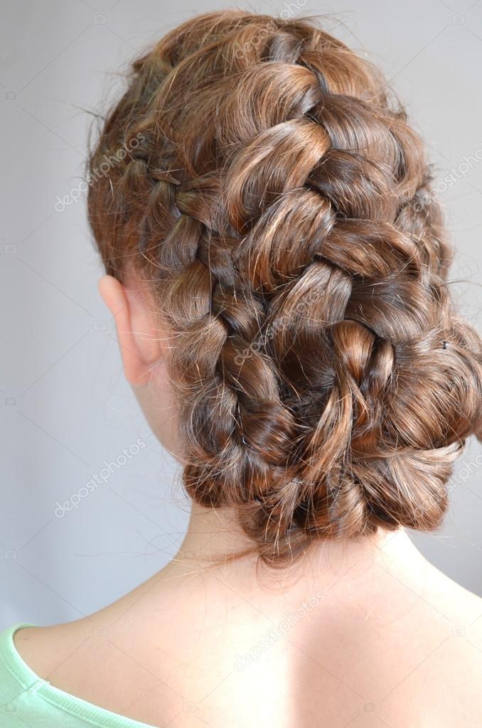 Hairstyle With French Braids Stock Photo Yuliyam 67492363