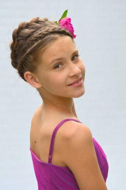 Hairstyle with French braids