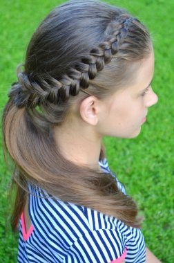 Hairstyle with a French braid