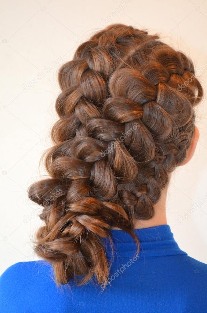 Hairstyle With French Braids Stock Photo Yuliyam 86494744
