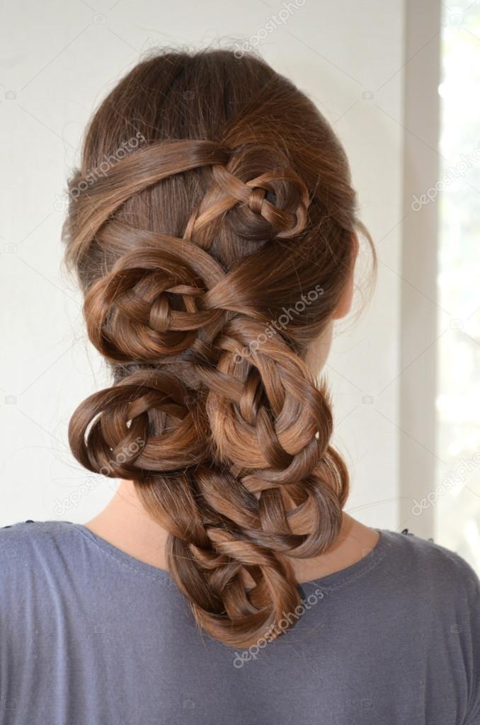 Frisur Mit Langen Haaren Stockfoto Yuliyam 87105016