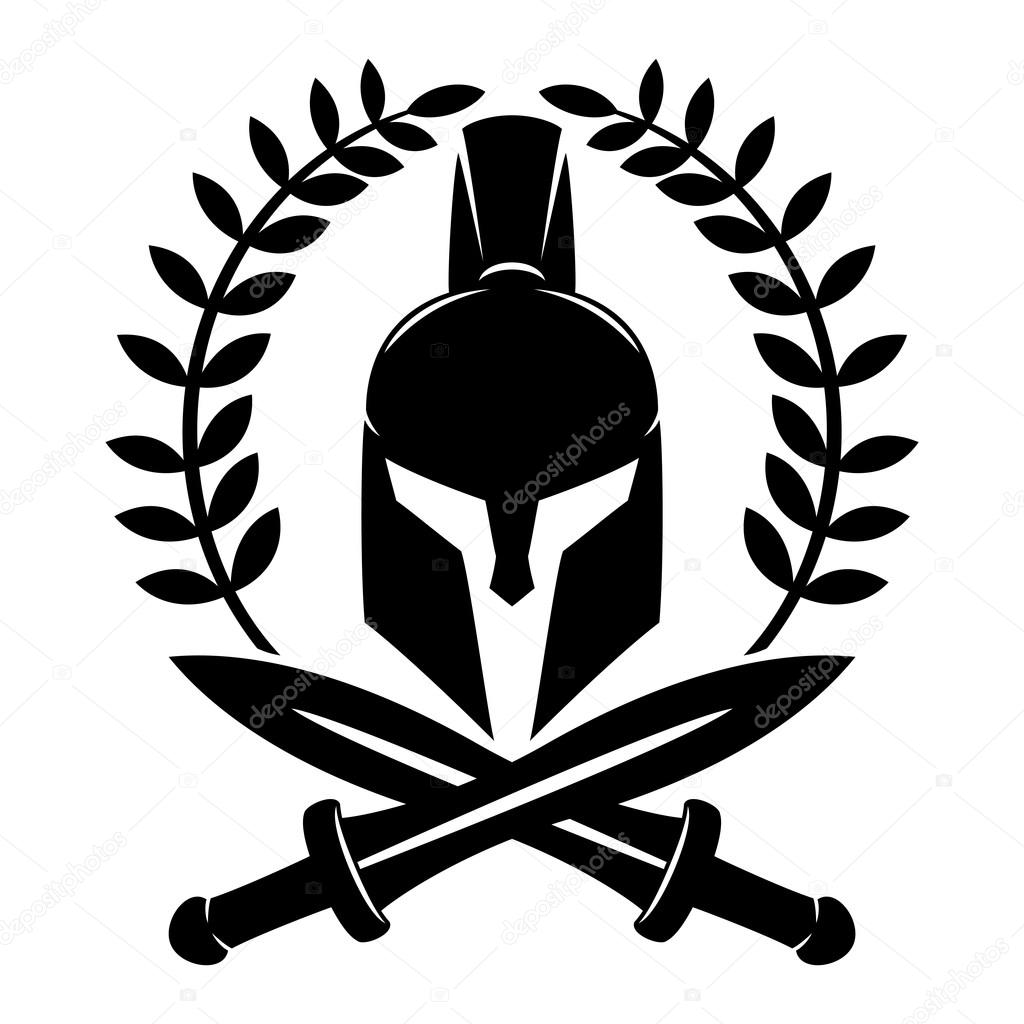 spartan helmet sign stock vector taronin 103986182 rh depositphotos com spartan helmet logo clip art spartan helmet logo clip art