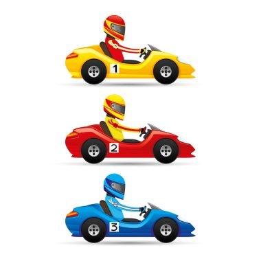 Mini racing cars.
