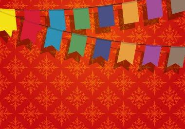 Festive banner.