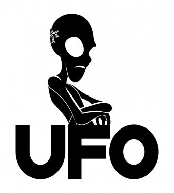 Vector sign. UFO.