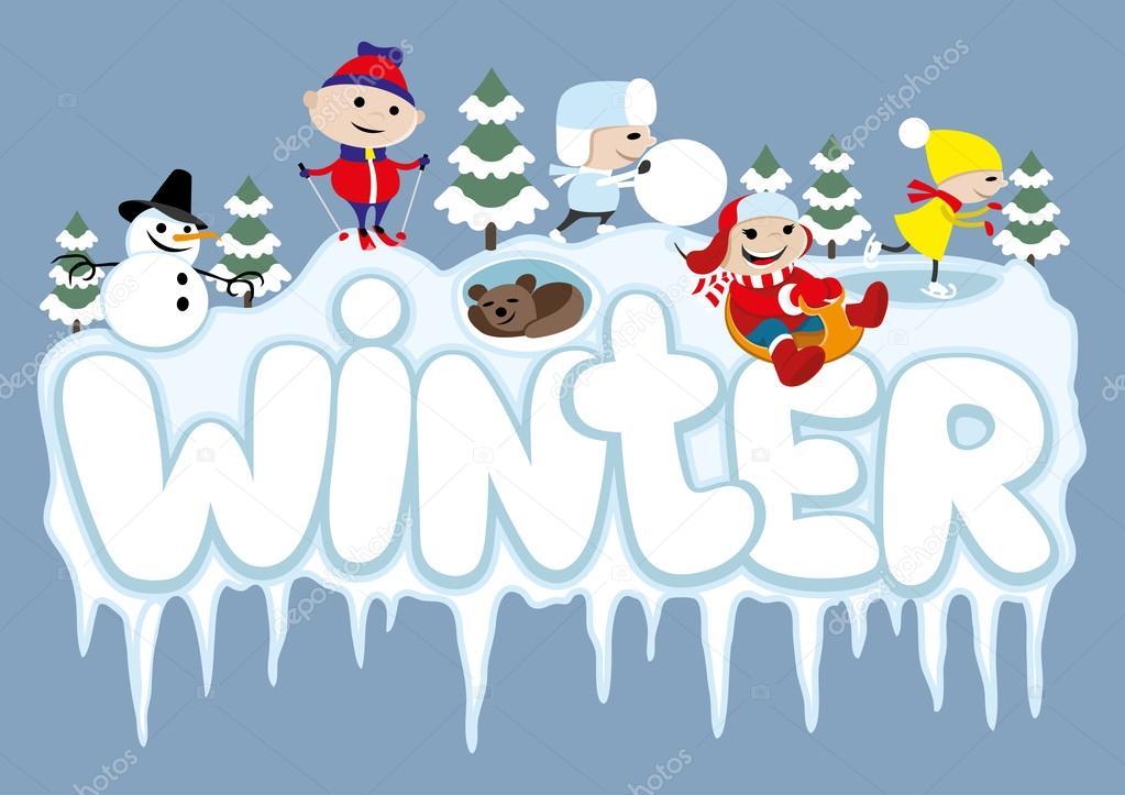 Vector illustration. Winter.
