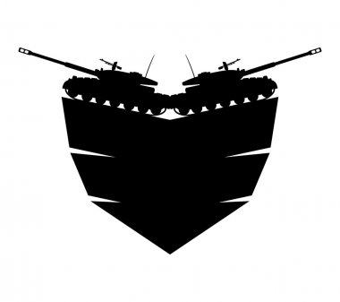 Vector military sign. Tanks.