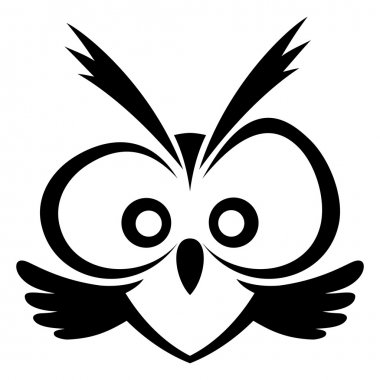 Vector sign. Owl.